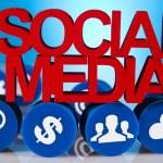 Social media icons set — Stock Photo