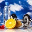 Dumbell in vitamins — Stock Photo #24803257