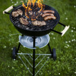 Stok fotoğraf: Grilling at summer weekend