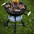 Foto Stock: Grilling at summer weekend