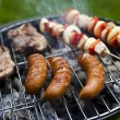 Grilling at summer weekend — Stock Photo #28438383