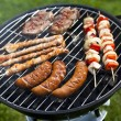Grilling at summer weekend — Stock Photo