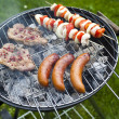 Grilling at summer weekend — Stock Photo #28438859