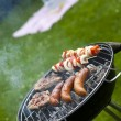 Grilling at summer weekend — Stock Photo #28439421