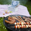Grilling at summer weekend — Stock Photo #28439535