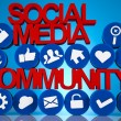 Stock Photo: Internet concept with social media