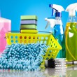 Set of cleaning products — Stock Photo