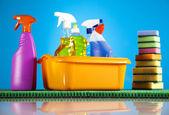Produtos de limpeza — Fotografia Stock
