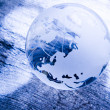 Crystal Earth Globe — Stock Photo