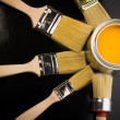 Paint brush and paint — Stok fotoğraf