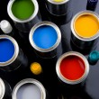 Paint and brushes — Stock Photo