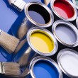 Paint and brushes — Stockfoto