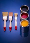 Farbe und pinsel — Stockfoto