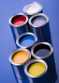 Cans of paint — Stock Photo