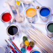 Paint and brush — Foto Stock
