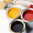 Paint and brush — Foto de Stock
