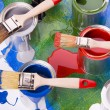 Stock Photo: Paint and brush