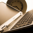 Laptop & Clock — Stock Photo #30695495