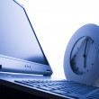 Laptop & Clock — Stock Photo #30695499