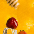 Stock Photo: Strawberries with honey
