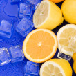 Lemons with ice cubes — Stock Photo #30698759