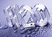 H2O sign — Stock Photo