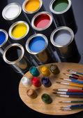 Paint and brush — Stock Photo
