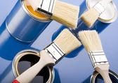 Paint brush and paint — Foto de Stock