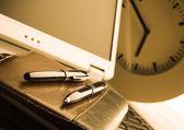 Laptop & Ballpoint — Stock Photo