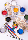 Paint and brush — Stock Photo