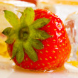 Stock Photo: Cold strawberries with honey combs