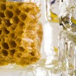 Cold honey comb — Stock Photo