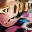 Disc & Guitar — Stockfoto