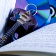 Notes & Guitar — Stock Photo