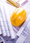 House plan blueprints — Stock Photo