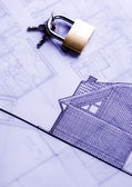 House plan & key — Stock Photo
