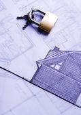 House plan & key — Stock Photo