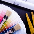 Color samples & Architecture plan — Stock Photo #30731017