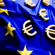 Stock Photo: Flag of EuropeUnion with euro sign