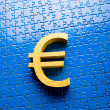 Euro money sign — Stock Photo
