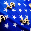 U.S.A flag & Dollar signs — Stock Photo #30736135