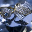Diamonds - Gemstones - Rings — Stock Photo