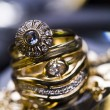 Rings with diamonds — Stock Photo