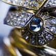 Rings with diamonds — Stock fotografie