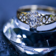 Ring on the diamond — Stock Photo