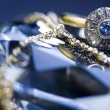 Diamonds - Gemstones - Rings — Foto Stock
