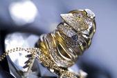 -değerli taşlar - elmas yüzükler — Stok fotoğraf