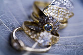 Gemstones - yüzükler — Stok fotoğraf