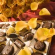 Stock Photo: Chocolate & Roses