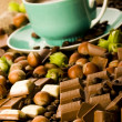 Stock Photo: Chocolate & Coffee & Nuts